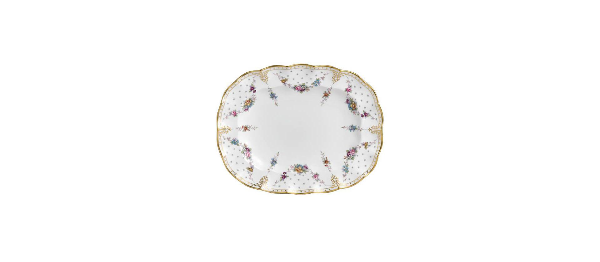 Dish Royal Crown Derby Antoinette 38 cm big