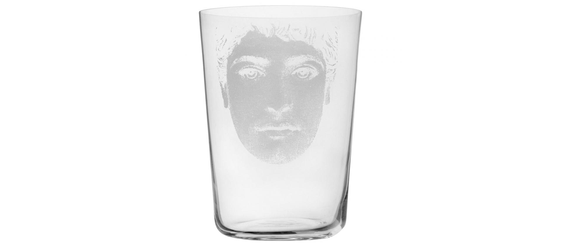 Large glass Fornasetti Tet a tet He big