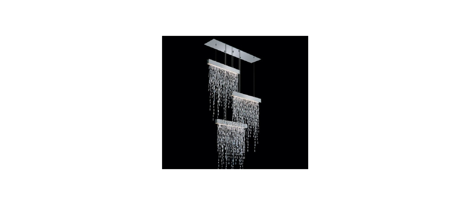 Pendant lamp Swarovski Crystalline Icicles Triple big