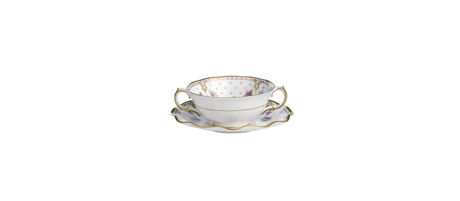 Royal Crown Derby Antoinette Soup Cup big