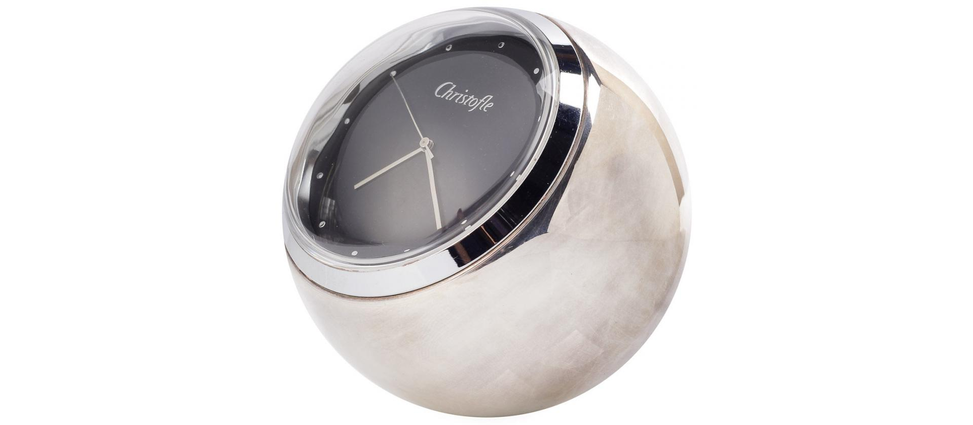Silver plated watches Christofle Radius big