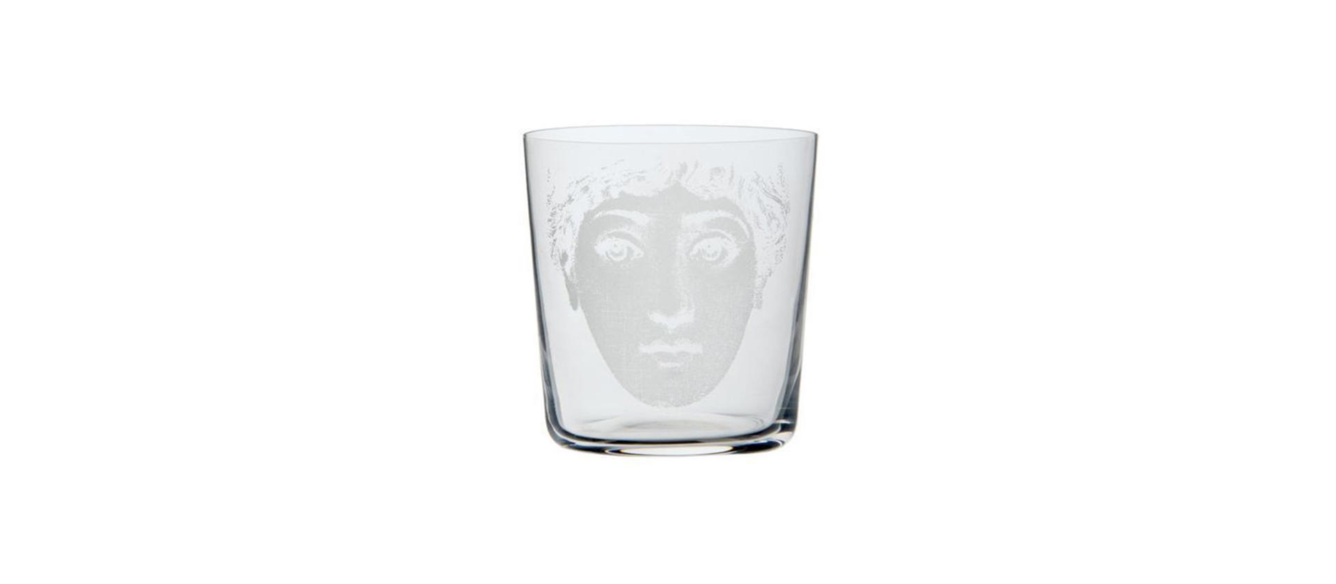 Small glass Fornasetti Tet a tet She big
