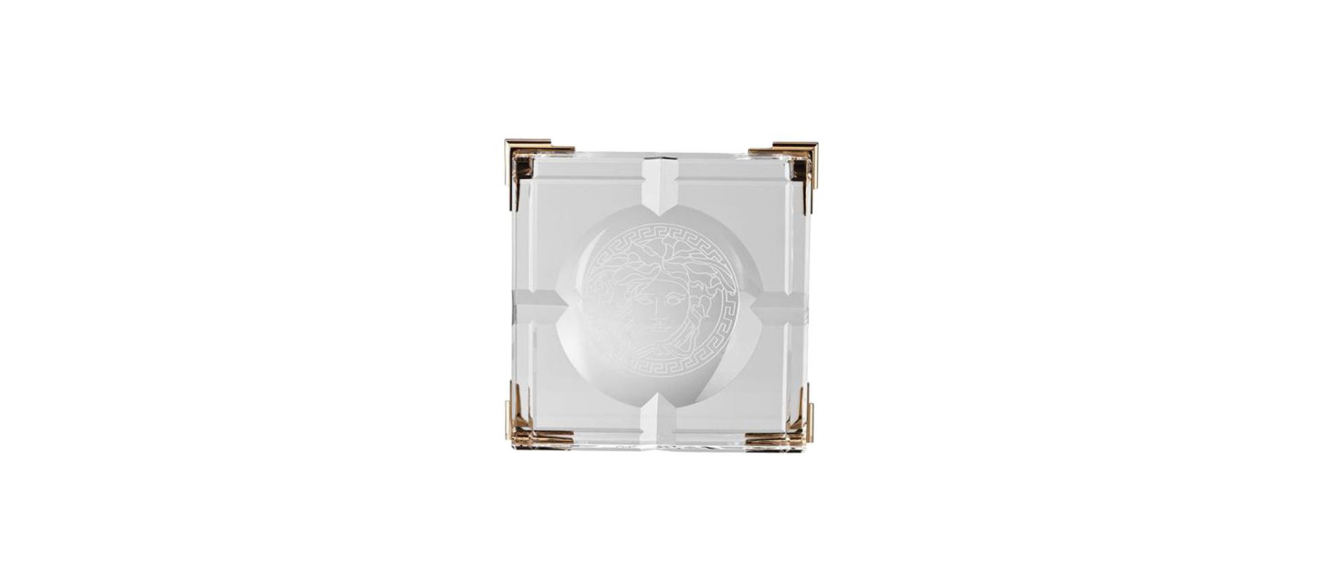 Ashtray Rosenthal Versace Medusa Prisma Clear big