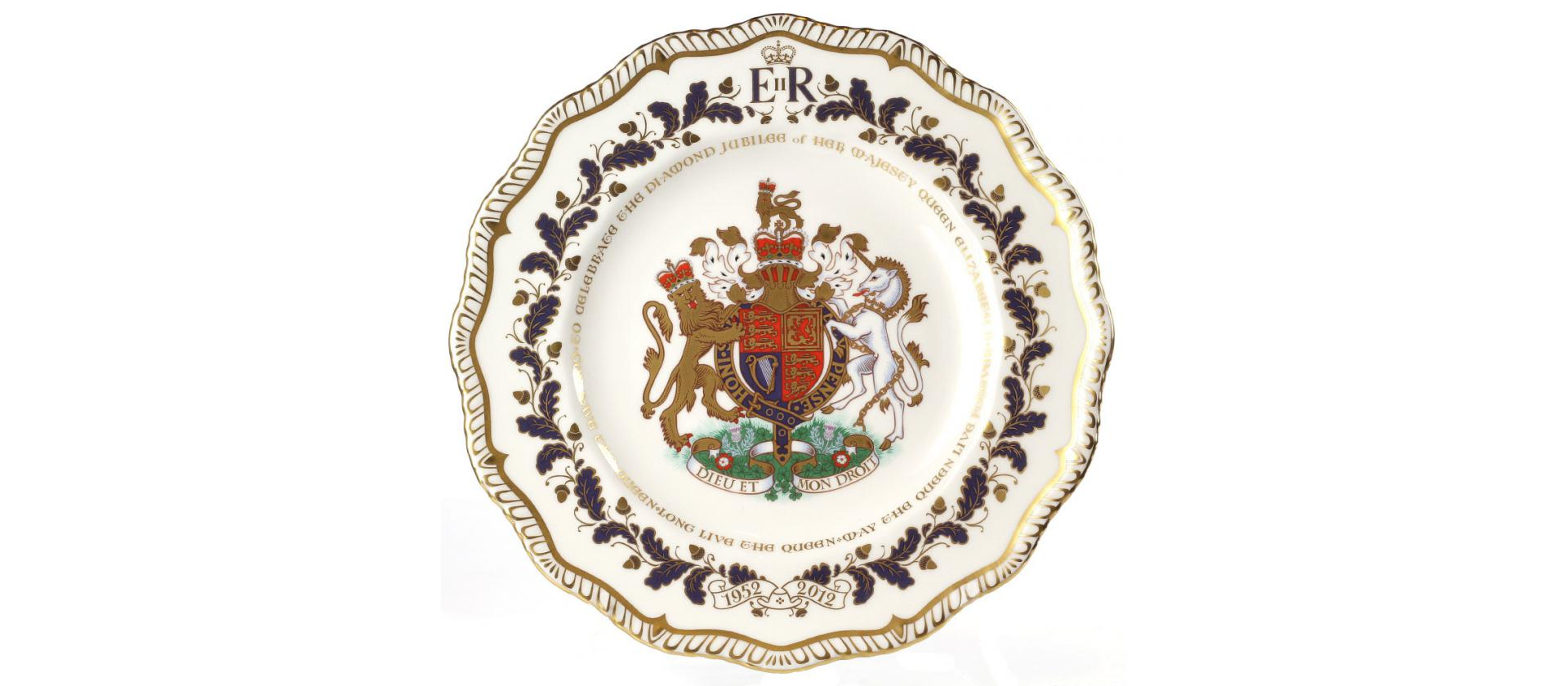 Фарфоровое блюдо Royal Crown Derby Diamond Jubilee big