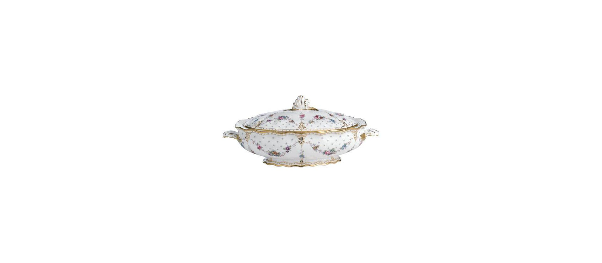 Dish with lid Royal Crown Derby Antoinette 2 l big
